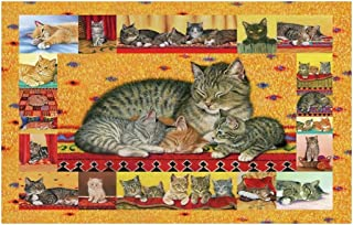 Jigsaw Puzzle Cats Collection Puzzles - Cat Mom Love - 520/1000/1500 Piece Jigsaw Puzzle- Wooden Unique Cut Interlocking P...