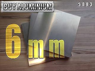 Placa de aluminio de 6 mm, 5083, 100mm x 100mm, 1