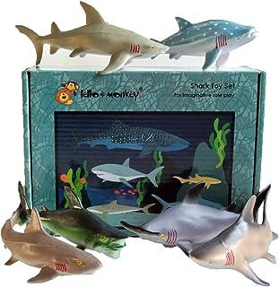 Lello and Monkey La Criatura del Mar de Tiburones Animales de Juguete Figuras de Juego de