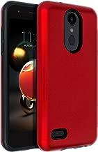 SENON Slim-fit Shockproof Anti-Scratch Anti-Fingerprint Protective Cover Case for LG Aristo 2 / Aristo 3 / LG Zone 4 / Tribute Dynasty/Fortune 2 /Risio 3 / K8 2018/ K8+ / K8 Plus,Red