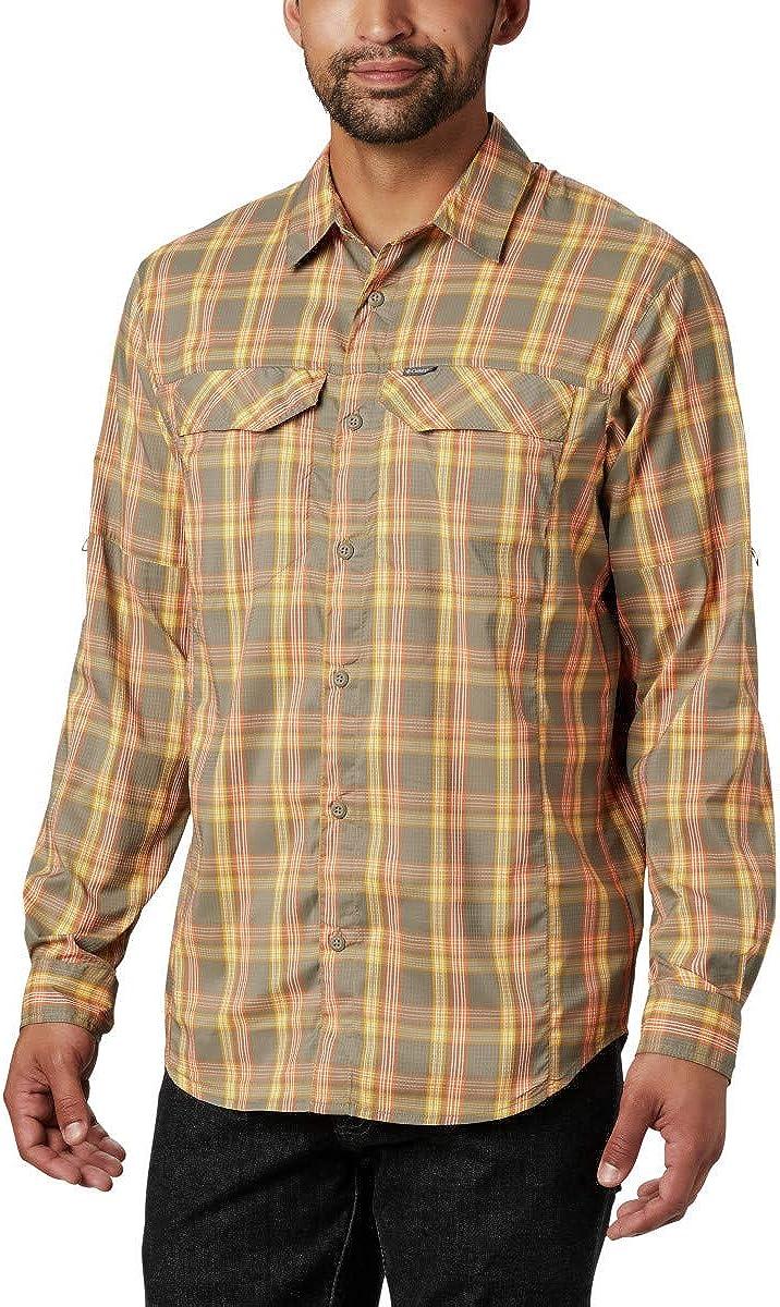 Moisture Wicking Fabric UV Sun Protection Columbia Mens Silver Ridge Lite Plaid Long Sleeve Shirt
