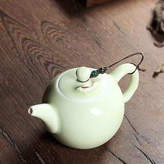 240ml Crackle Glaze Brother Kiln Celadon Ceramics Arts TayShi Pot Porcelain Clay Antique Teapot,Ivory