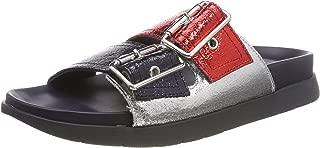 Tommy Hilfiger Crackle Metallic Footbed Slip On Shoes
