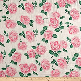 Shannon Fabrics Shannon Embrace Double Gauze Rose Garden Pink Fabric By The Yard