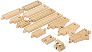 BRIO World - 33394 Starter Track Pack | 13Piece Wooden Train Tracks For Kids Ages 3 & Up