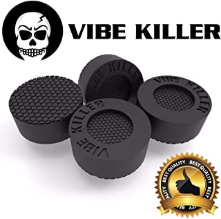 Washer Anti-Vibration and Anti-Walk Washer and Dryer Feet | 8% Bigger Than The Leading Competition | Shock Absorbing Pads with Unique Textured Base (Pack of 4 Rubber Feet) By VIBE KILLER