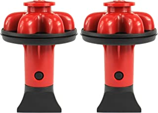 Danco (10923A) Disposal Genie II Garbage Disposal Strainer and Stopper, Kitchen Sink Drain Splash Guard with Food Scraper, Red, 2-Pack