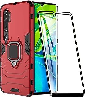 2X Vidrio Templado LsYun Funda Compatible para Xiaomi 9SE Carcasa Silicona Doble Caja Protectora A Prueba de Golpes+Soporte de Anillo Magn/ético,PC+TPU Anti-ca/ída Caso-Armada