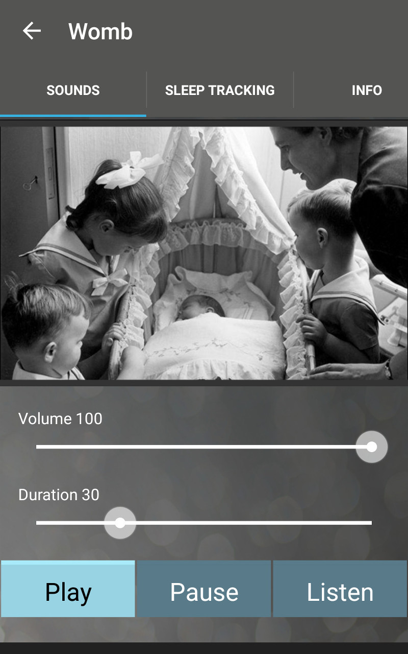 Sound Sleeper - relaxing sounds of nature and white noise for calming your baby to sleep