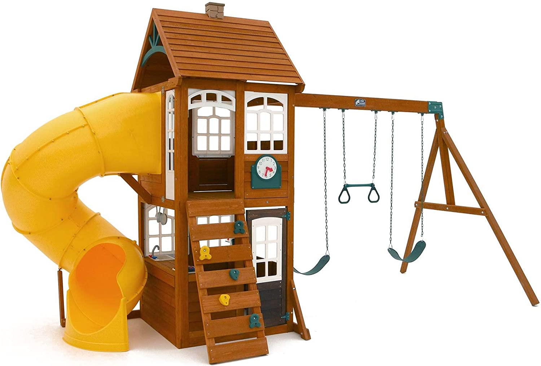 KidKraft Ranking TOP18 Creston Lodge Kids Children Wooden Swing Playse Outdoor Ranking TOP2