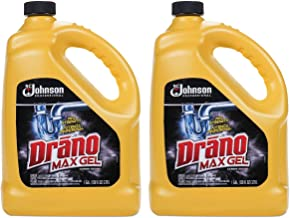 Drano Max Gel Clog Remover, Bleach Scent SCJ Professional, 128 fl oz (Pack of 2)