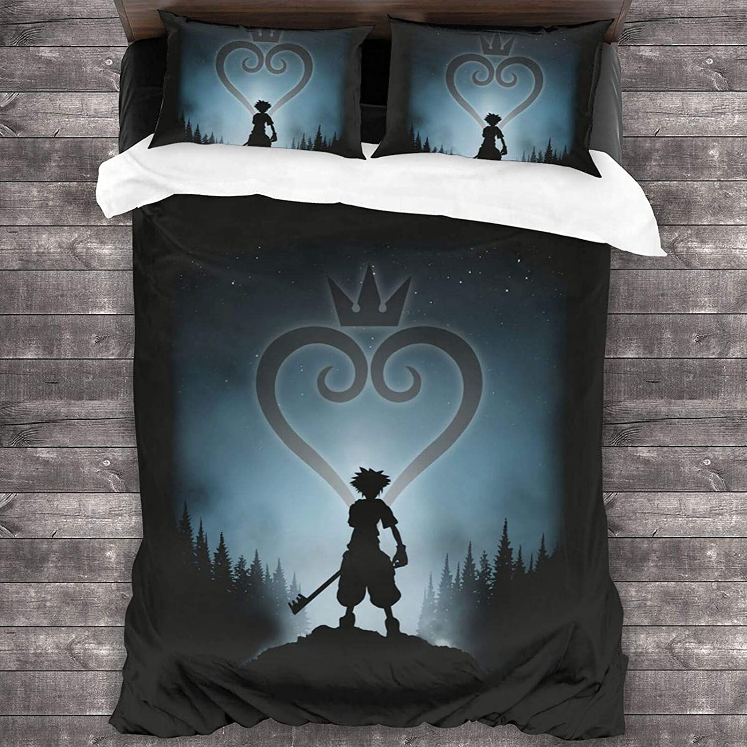Kingdom Opening large release sale Heart outlet Boys and Girls 3 Pieces Full Que Sets Size Bedding