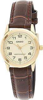 Casio Dress Watch Analog Display For Women Ltp-V001Gl-9B, Brown Band