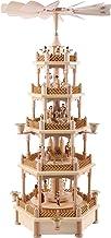Richard Glässer Seiffen German Christmas Pyramid Nativity Scene, 4-Tier, Height 70 cm / 28 inch, Natural, Original Erzgebi...
