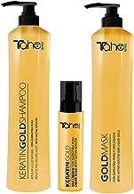 TAHE Keratin Gold Shampoo 800ml + Mask 800ml + Keratin Gold Serum 125ml