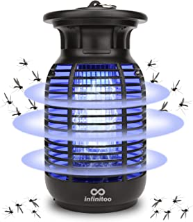 infinitoo Electric Mosquito Killer, 15W Waterproof Mosquito Zappers, Handheld Fly Killer, Mosquito Trap with Electronic UV...