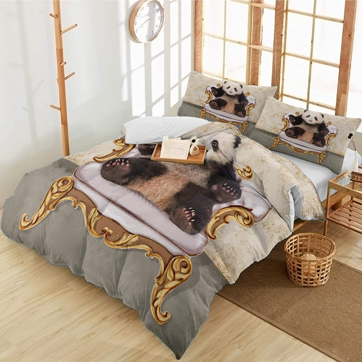 Long-awaited Queener Home Duvet Cover Set Panda Palace Challenge the lowest price of Japan on Sofa Sitting The B