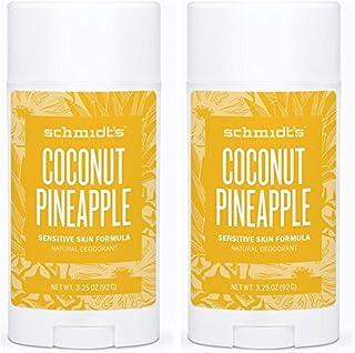 Schmidt's Natural Deodorant - Coconut Pineapple 3.25 Oz Sensitive Skin Stick; Aluminum-Free Odor Protection & Wetness Reli...