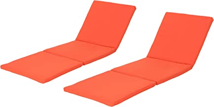 Christopher Knight Home 304001 Jessica Outdoor Chaise Lounge Cushion, Orange