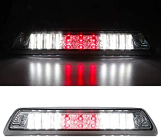 For 2009-2014 Ford F-150 LED Third 3rd Brake Cargo Light Assembly, Rear Roof Center High Mount Stop Tail Light Replacement (Chrome Housing Clear Lens)
