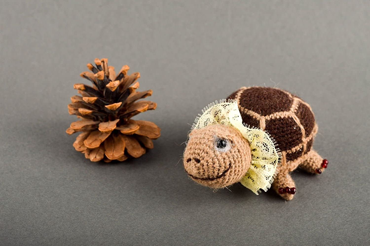 Unusual Knitted Soft Toy Handmade Designer Textile Toy Beautiful Present