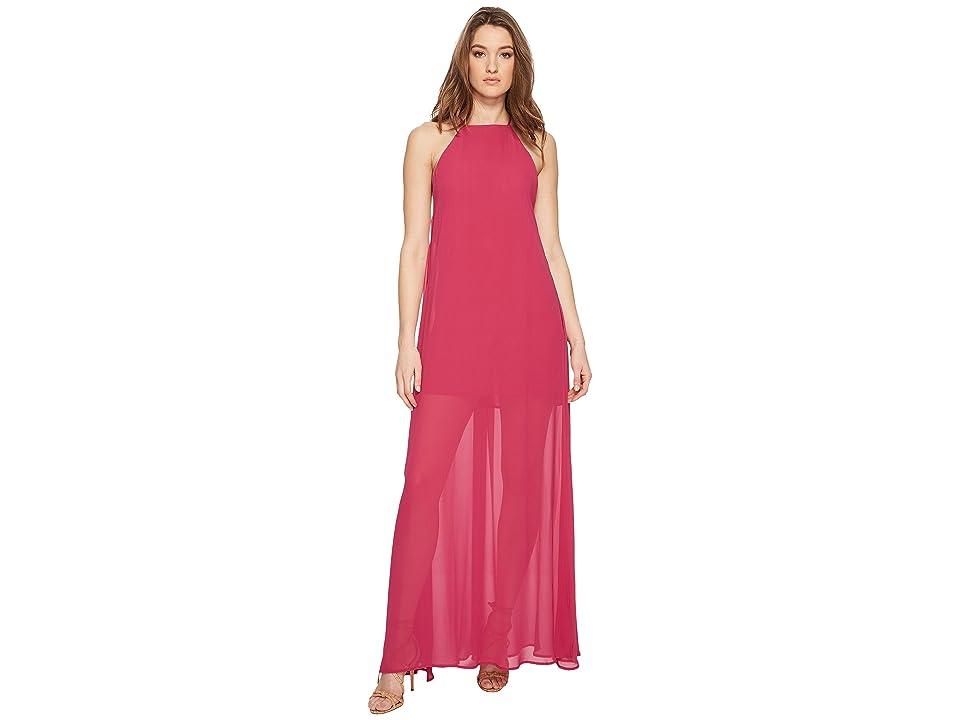 Show Me Your Mumu Bronte Maxi Dress (Fuchsia Pop Chiffon) Women