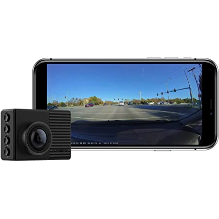 """Garmin Dash Cam 66W, Extra-Wide 180-Degree Field of View In 1440P HD, 2"""" LCD Screen and Voice Control, Very Compact with Automatic Incident Detection and Recording , Black"""