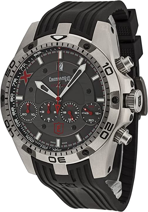 Orologio eberhard  da uomo chrono 4 geant - titane x - edition limitee - cronografo analogico automatico 37061.1 CU