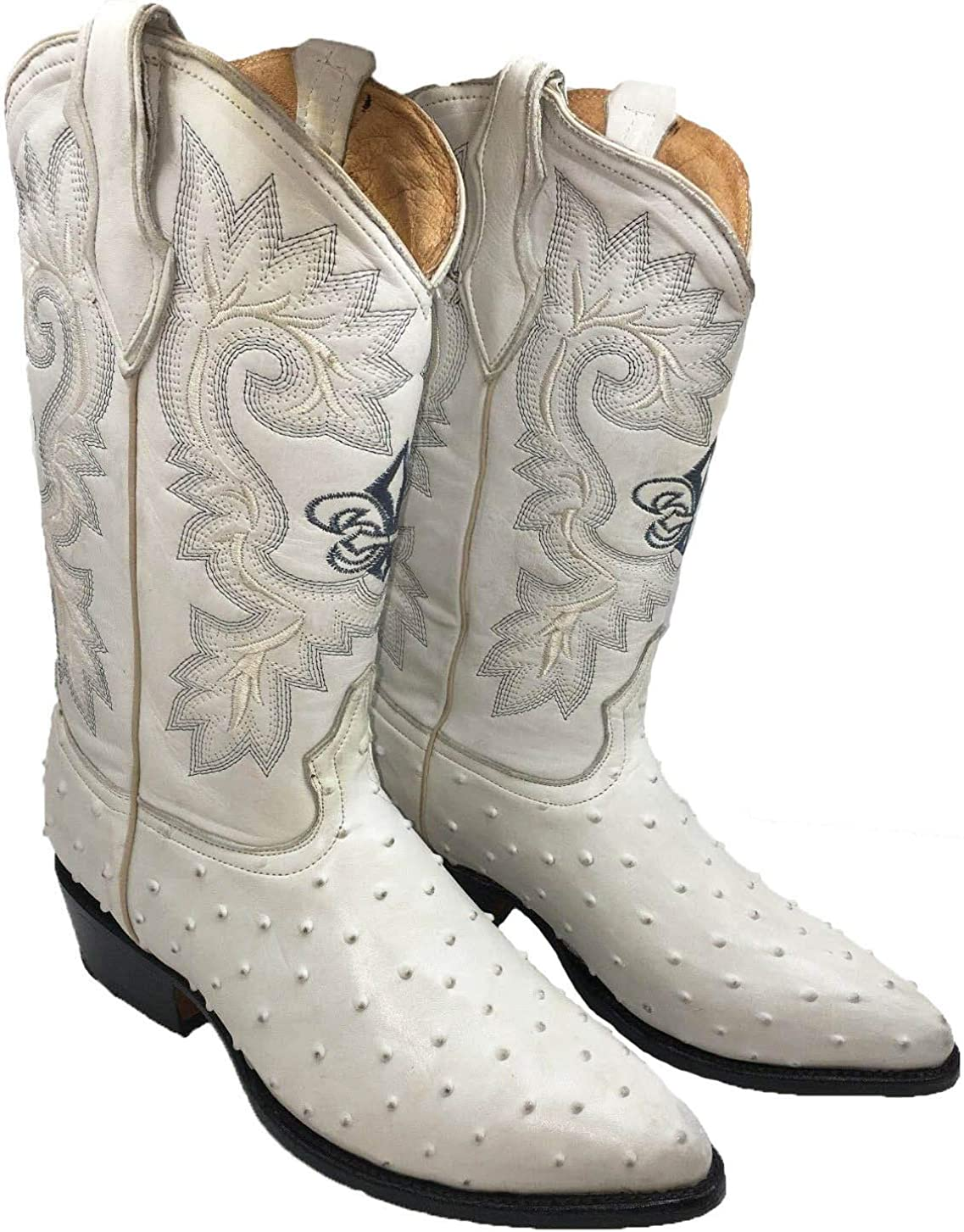 Spasm price Men's Cowboy Boots Ostrich Print Western SEAL limited product Botas Rodeo Leather Lig