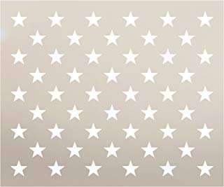"American Flag 50 Star Stencil by StudioR12 | Reusable Mylar Template | Use for Arts, Crafts, DIY Decor | Painting, Mixed Media, Air Brushing (7.6"" x 5.39"") for Flag Size (19"" x 10"")"