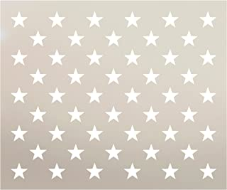 American Flag 50 Star Stencil by StudioR12   Reusable Mylar Template   Use for Arts, Crafts, DIY Decor   Painting, Mixed Media, Air Brushing (19