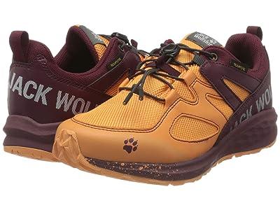 Jack Wolfskin Kids Unleash 2 Speed Texapore Low (Little Kid/Big Kid) (Apricot/Burgundy) Girl