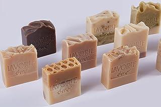 Lavorie 100% Natural Soap Bar Set 3 Pc Herbal, Handmade, Cruelty Free Soap, Lavender, Terebinth, Donkey Milk Bath Bars (3 ...
