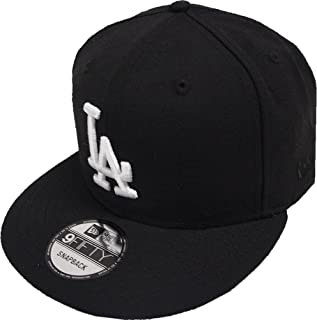 New Era Black White Logo Snapback Cap 9fifty