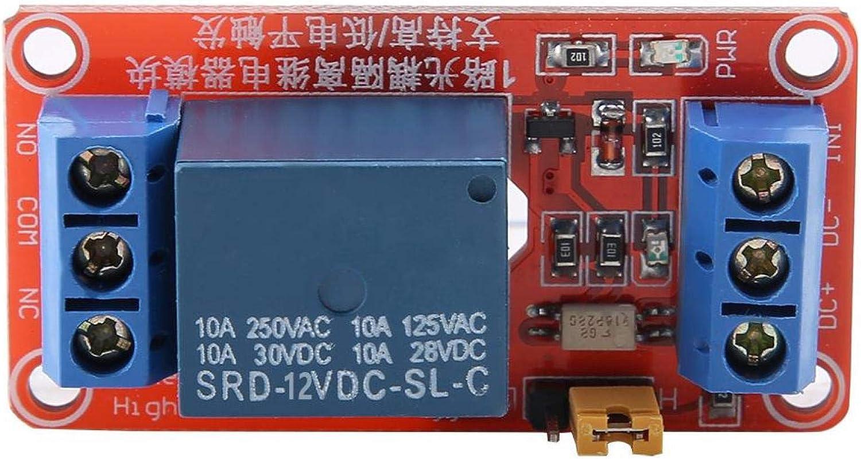 Oumefar 1 Channel High /& Low Trigger Optocoupler Relay Module Board 5V//12V//24V Optocoupler Relay Module 12V
