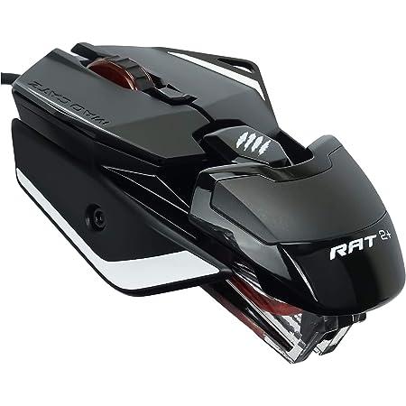 Mad Catz RAT 2+ - Ratón (mano derecha, Óptico, USB, 5000 DPI, 5000 pps, Negro)