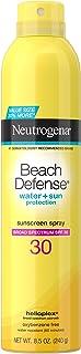 Neutrogena Beach Defense Sunscreen Spray SPF 30 Water-Resistant Sunscreen Body Spray with Broad Spectrum SPF 30, PABA-Free...