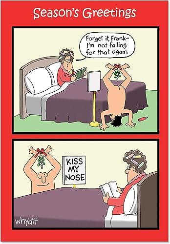 tomamos a los clientes como nuestro dios Caja de 12Kiss 12Kiss 12Kiss nariz Gui de Navidad Humor Tarjeta  mejor vendido