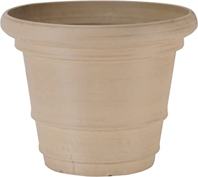 Arcadia Garden Products YG56B Double Rim Pot, 22 by 17-Inch, Beige