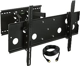 Mount-It! TV Mount Full Motion Heavy-Duty Swivel Fits 32-60 Inch Screen LCD OLED Plasma 4K Flat Panel Screen VESA Up To 750x450, 175 Lb Capacity, Black
