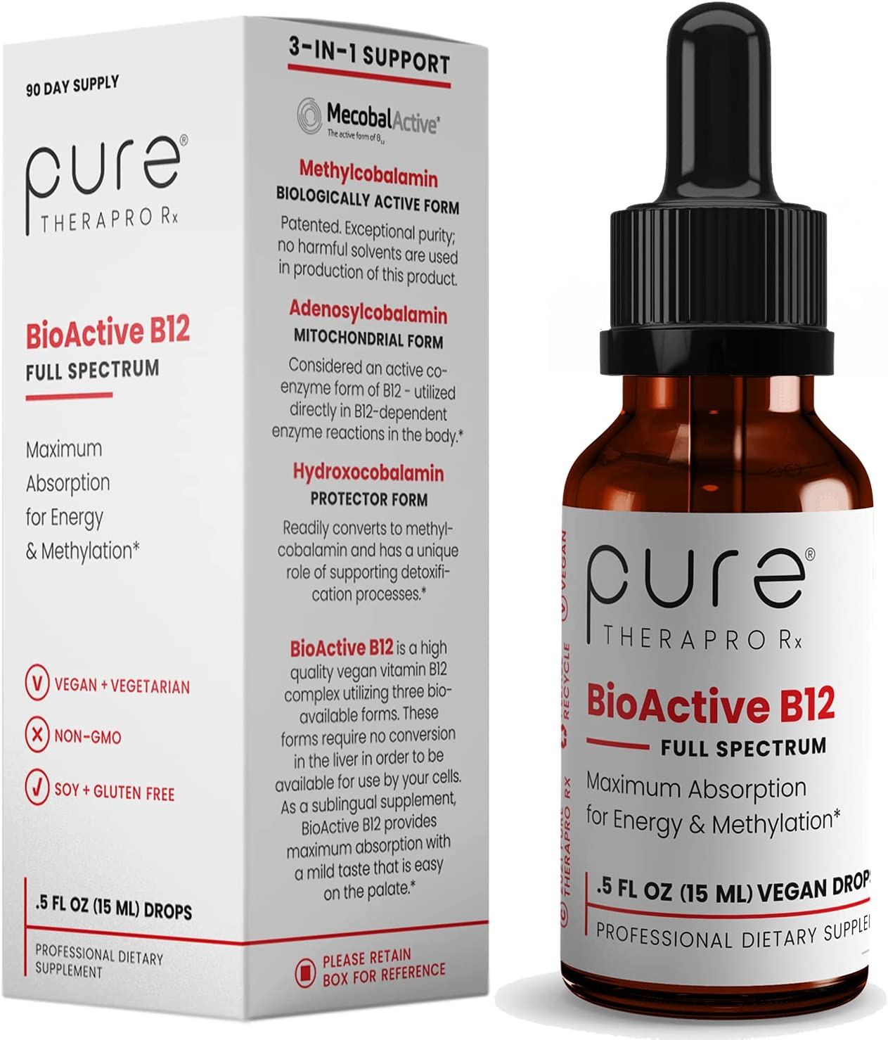 BioActive We OFFer New Free Shipping at cheap prices B12 Full-Spectrum Sublingual Drops 4 Supply: Day 90