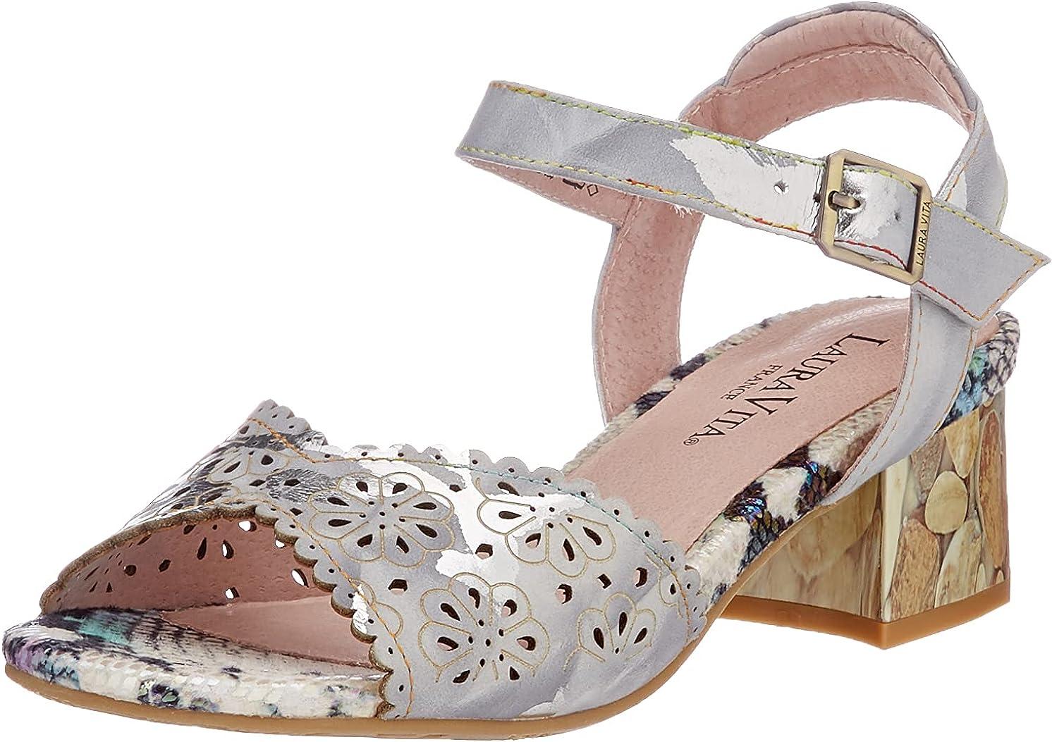 Laura Vita Women's Heeled Popular brand in the world 5 ☆ very popular Sandal T-Strap.