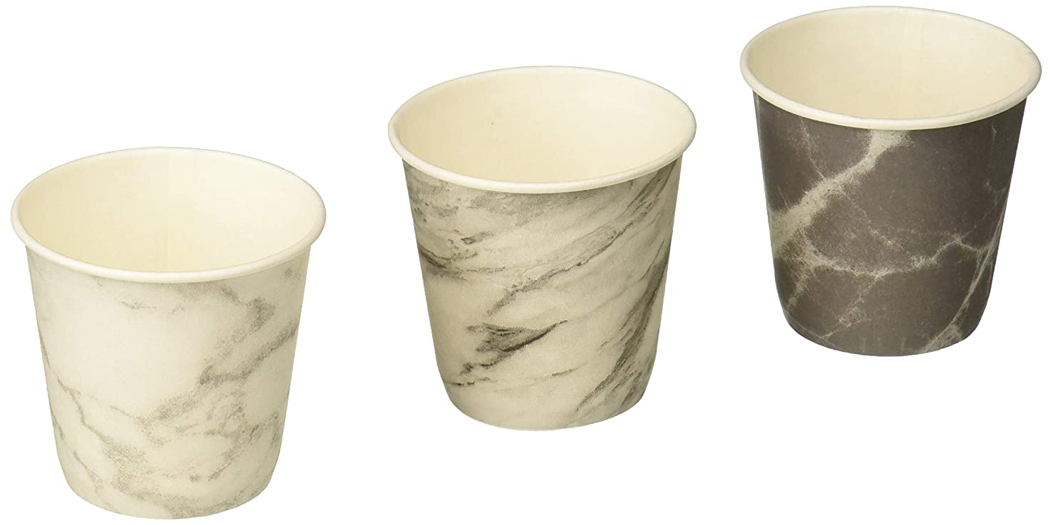 Prince & Spring Paper Bathroom Cups, Multicolor Marble Variety 3 oz x 600
