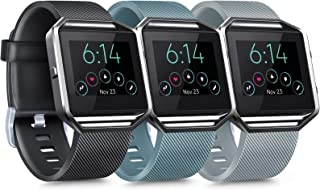 [3パック] シリコンバンド Fitbit Blazeバンド対応 レディース メンズ 交換用スポーツリストバンド Fitbit Blazeスマートフィットネスウォッチ用 ブレイズとフレームは含まれません