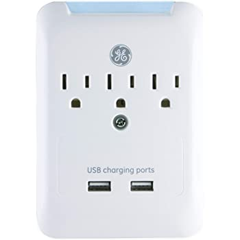 GE 33646 3-Outlet Surge Tap with USB