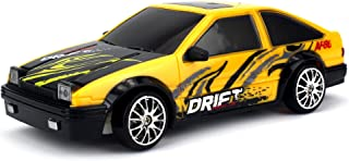 Drift King Retro Legend Remote Control RC Drifting Racing Race Car 1:24 Scale Size Ready To Run w/ Bright LED Lights, Extra Set of Grip Tires (Colors May Vary)