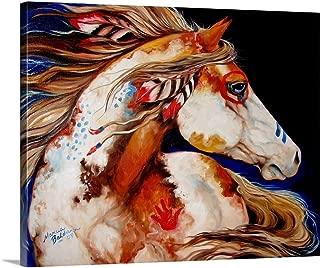 Indian War Horse Canvas Wall Art Print, 30