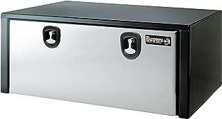 Buyers Products Black Steel Underbody Truck Box w/ Stainless Steel Door (18x18x48 Inch)