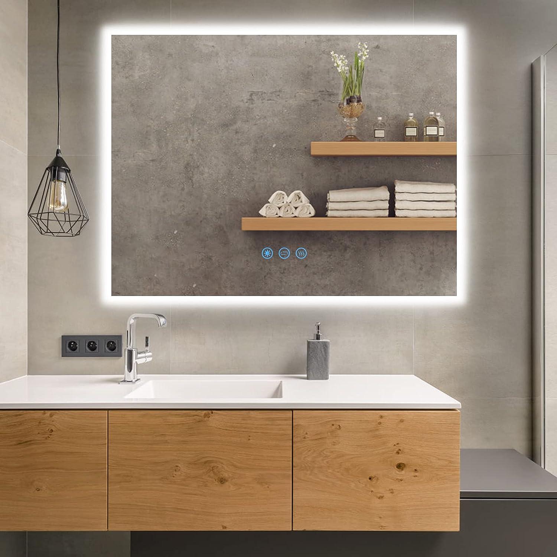 """Homedex 48""""x 36"""" Backlit Bathroom Led Mirror Vanity outlet 3 Color online shop with"""