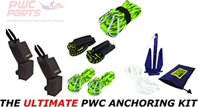 PWC Parts Ultimate Anchoring Kit for All Personal Watercraft SeaDoo Yamaha Kawasaki Honda Polaris GTX GTI RXP-X RXT-X GTR EX Spark FX VX Cruiser Sport Deluxe Limited XLT GP-R 1200 1300 XL GP1800 VXR